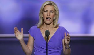 Conservative political commentator Laura Ingraham speaks during the third day of the Republican National Convention in Cleveland, Wednesday, July 20, 2016. (AP Photo/J. Scott Applewhite) ** FILE **