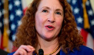 In this March 4, 2015, file photo, Rep. Elizabeth Esty, D-Conn., speaks on Capitol Hill in Washington. Esty on Monday, April 2, 2018, asked the House Ethics Committee to investigate whether she did anything wrong in her handling of the firing of her former chief of staff accused of harassment, threats and violence against female staffers in her congressional office. (AP Photo/Carolyn Kaster, File)