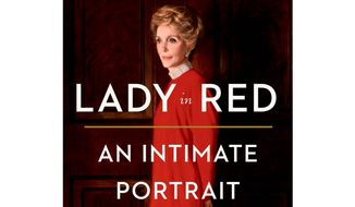 "Book jacket: ""Lady in Red: An Intimate Portrait of Nancy Reagan"" by Sheila Tate."