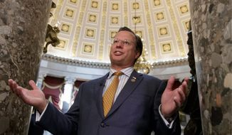 Rep. Dave Brat, Virginia Republican, is poised to face the winner of the June 12 Democratic primary between Dan Ward and Abigail Spanberger. (Associated Press)
