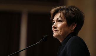 Republican Gov. Kim Reynolds. (Associated Press) ** FILE **