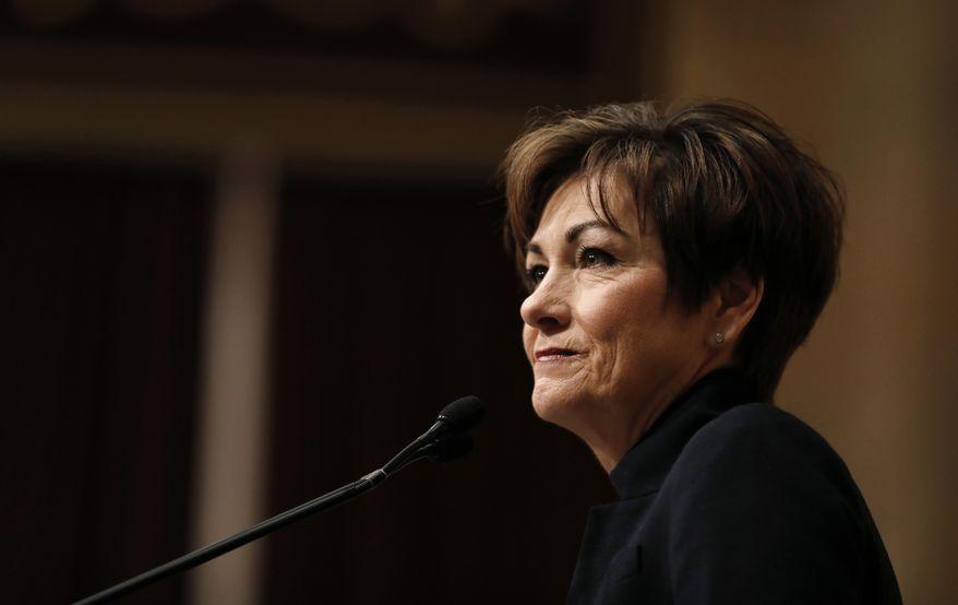 Republican Gov. Kim Reynolds. (Associated Press) ** FILE **