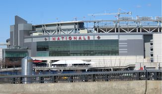 The exterior of Nationals Park in Near Southeast, Washington, D.C. The ballpark has aided in a revitalization of Southeast's Navy Yard neighborhood. (Photo by Adam Zielonka / The Washington Times)