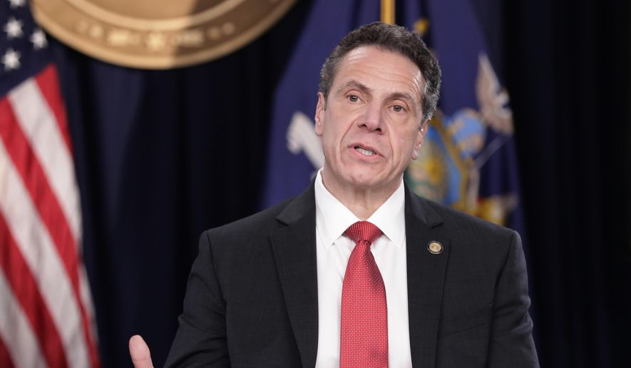 New York Governor Andrew Cuomo speaks during a news conference Wednesday, April 4, 2018, in New York. (AP Photo/Frank Franklin II) ** FILE **