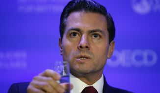 """If your recent statements are the result of frustration due to domestic policy issues, to your laws or to your Congress, it is to them that you should turn to, not to Mexicans,"" Mexican President Enrique Pena Nieto said in Spanish, which was translated by the Mexican government. (Associated Press)"