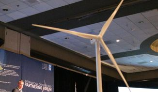 """United States Interior Secretary Ryan Zinke speaks at an offshore winds energy forum Friday, April 6, 2018, in Plainsboro, New Jersey. The secretary noted there is """"a lot of opposition"""" on the east and west coasts to President Trump's offshore oil and gas drilling plan, but would not say if he will exempt any state from it. (AP Photo/Wayne Parry)"""