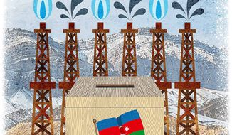 Azerbaijani Elections Illustration by Greg Groesch/The Washington Times