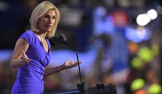 Conservative political commentator Laura Ingraham speaks during the third day of the Republican National Convention in Cleveland, Wednesday, July 20, 2016. (AP Photo/Mark J. Terrill)