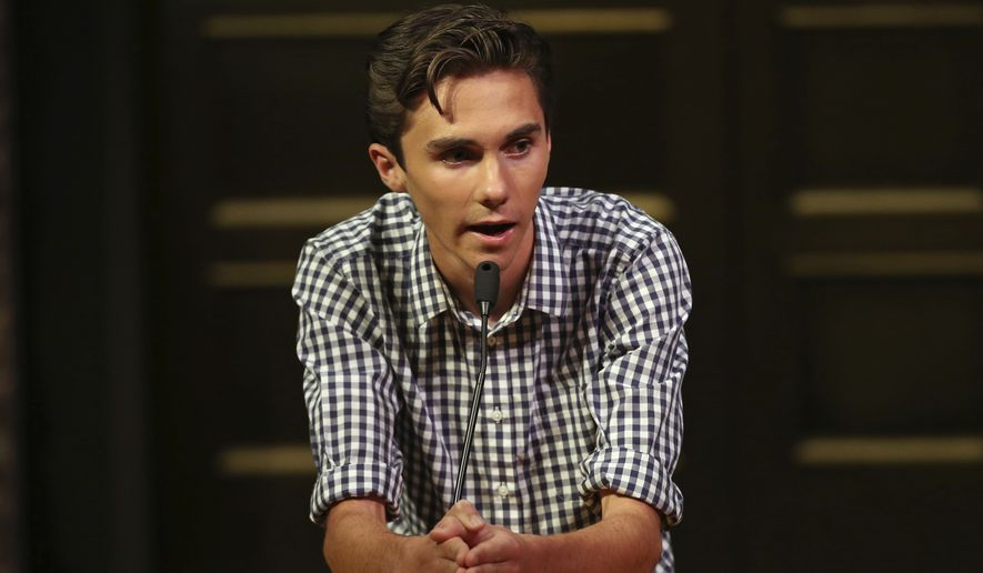David Hogg has become the face of the gun-control movement since the February shooting at his high school, Marjory Stoneman Douglas High in Parkland, Florida. (Associated Press)