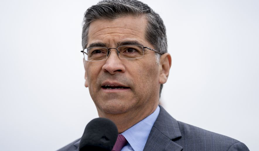 """We're taking this action to protect the health and financial security of millions of people in our country, as well as billions of dollars of federal funds that go to our states to make sure that we can afford the health care that our families need,"" California Attorney General Xavier Becerra said. (Associated Press)"