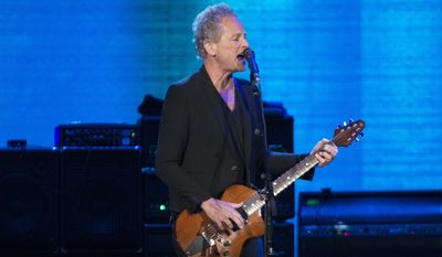 Lindsey Buckingham seen during the Fleetwood Mac concert at the Air Canada Centre on Saturday, Oct. 18, 2014, in Toronto, Canada. (Photo by Arthur Mola/Invision/AP)