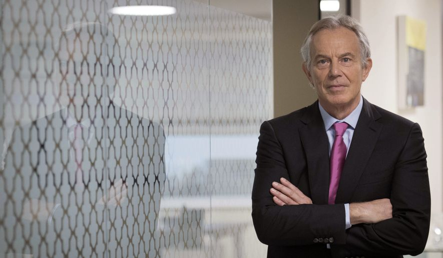 Northern ireland marks 20 years of peace deal as brexit casts former prime minister tony blair stands during an interview about the good friday agreement on the platinumwayz