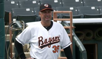 Gary Kendall is in his eighth season as manager of the Bowie Baysox (Courtesy of Bill Vaughan/Baysox)