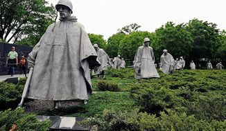 The Korean War Memorial in Washington,DC    The Washington Times photo