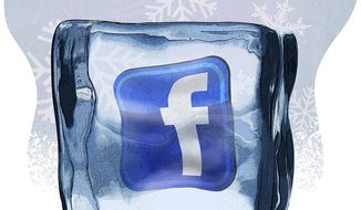 Facebook Freeze Illustration by Greg Groesch/The Washington Times