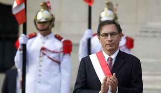 """The presence of President Trump would have been beneficial and important,"" said Peru's President Martin Vizcarra. ""But [Vice President Mike Pence's attendance] means that the United States ratifies the importance to participate in the summit."" (ASSOCIATED PRESS PHOTOGRAPHS)"