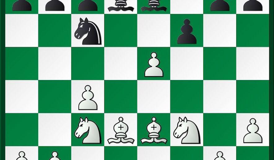 Reshevsky-Denker after 14. Be2-d3.