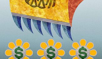Tax Day Harvest Illustration by Greg Groesch/The Washington Times