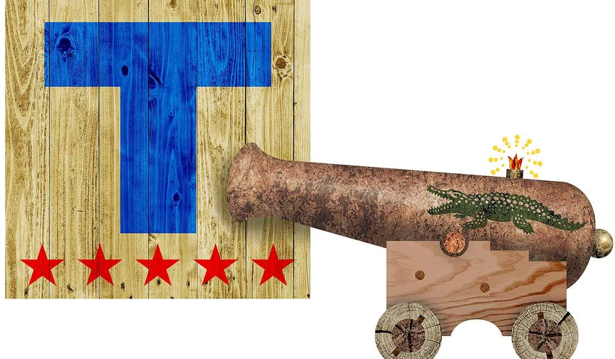Swamp Cannon Illustration by Greg Groesch/The Washington Times