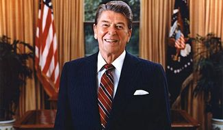 "Ronald Reagan in his official portrait in 1985. The Reagan Institute will see to the late president's ""unfinished business"" in the nation's capital. (Ronald Reagan Presidential Foundation)"