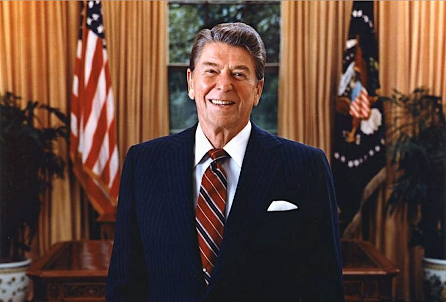 """Ronald Reagan in his official portrait in 1985. The Reagan Institute will see to the late president's """"unfinished business"""" in the nation's capital. (Ronald Reagan Presidential Foundation)"""