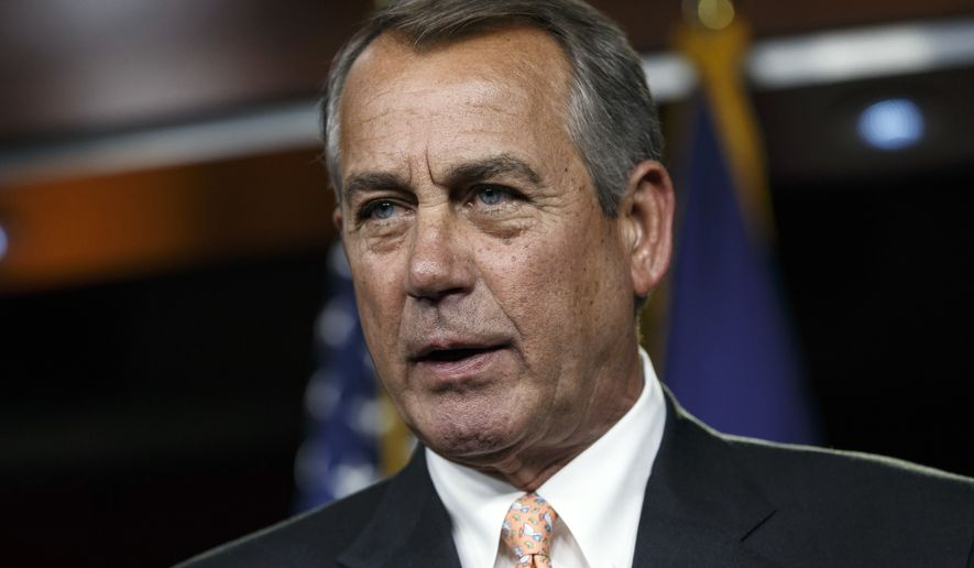 In this Feb. 26, 2015, file photo, then-House Speaker John Boehner speaks during a news conference on Capitol Hill in Washington. Former U.S. House Speaker Boehner says he has had a change of heart on marijuana and will promote its nationwide legalization. Known as an avid cigarette smoker, the Ohio Republican has joined the advisory board of Acreage Holdings, a multistate cannabis company. (AP Photo/J. Scott Applewhite, File)