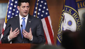 House Speaker Paul Ryan of Wis., announces that he will not run for re-election at the end of his term, Wednesday, April 11, 2018, on Capitol Hill in Washington. (AP Photo/Jacquelyn Martin)