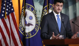 House Speaker Paul Ryan of Wis., announces that he will not run for re-election at the end of this term, Wednesday, April 11, 2018, on Capitol Hill in Washington. (AP Photo/Jacquelyn Martin)
