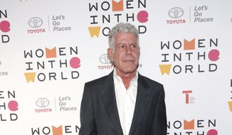 Author/chef Anthony Bourdain attends the Women in the World Summit opening night at the David H. Koch Theater on Thursday, April 12, 2018, in New York. (Photo by Brent N. Clarke/Invision/AP)