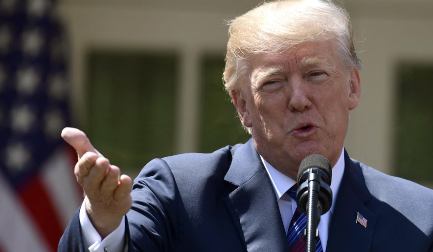 President Donald Trump speaks during an event on tax policy in the Rose Garden of the White House, Thursday, April 12, 2018, in Washington. (AP Photo/Susan Walsh)