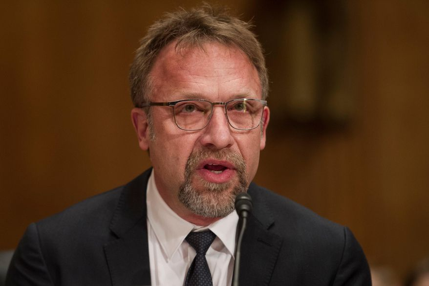 FILE -- In this Jan. 10, 2017 file photo Backpage.com CEO Carl Ferrer appears before the Senate Homeland Security and Governmental Affairs Permanent subcommittee on Investigations looking into Backpage.com. Ferrer will serve no more than five years in state prison under a plea agreement announced Thursday, April 12, 2018. (AP Photo/Cliff Owen, file)