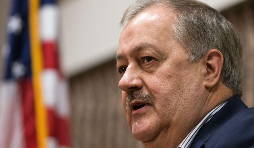 West Virginia Republican senatorial candidate Don Blankenship, the former Massey Energy CEO who spent a year in federal prison in connection with a deadly explosion, is within striking distance of becoming the challenger to Democratic Sen. Joe Manchin III, polling data show. (Associated Press/File)