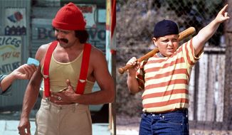"Cheech Marin as Pedro De Pacas in ""Up in Smoke: 40th Anniversary Edition"" and Patrick Renna as Hamilton Porter in ""The Sandlot: 25th Anniversary Edition,"" now available on Blu-ray."