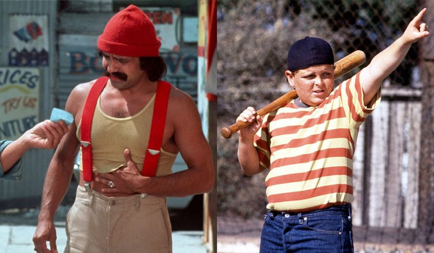 """Cheech Marin as Pedro De Pacas in """"Up in Smoke: 40th Anniversary Edition"""" and Patrick Renna as Hamilton Porter in """"The Sandlot: 25th Anniversary Edition,"""" now available on Blu-ray."""