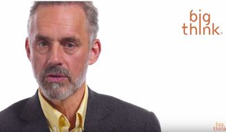 Clinical psychologist Dr. Jordan B. Peterson discusses the moral obligation of moderate leftists during a presentation for the YouTube channel Big Think, published April 12, 2018. (Image: YouTube, Big Think)