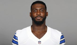 FILE - This is a 2017 file photo showing Dez Bryant of the Dallas Cowboys NFL football team. The Cowboys have released Dez Bryant, deciding salary cap relief with the star receiver's declining production outweighs the risk of him returning to All-Pro form with another team. Cowboys owner and general manager Jerry Jones said in a statement Friday, April 13, 2018,  it wasn't an easy decision, but was what the organization believes is in its best interest. (AP Photo/File)