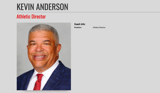 Kevin Anderson, former Athletic Director for the University of Maryland, shown here in a screen capture from UMTerps.com.
