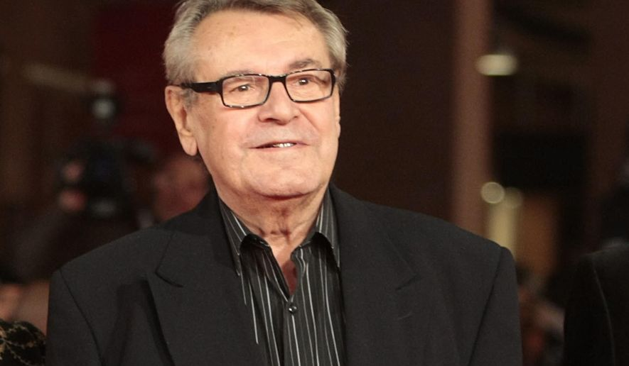 """FILE - In this Oct. 15, 2009, file photo, film festival jury member Milos Forman poses on the red carpet at the IV edition of the Rome Film Festival in Rome. Forman, whose American movies """"One Flew Over the Cuckoo's Nest"""" and """"Amadeus"""" won a deluge of Academy Awards, including best director Oscars, died Saturday, April 14, 2018.  (AP Photo/Gregorio Borgia)"""