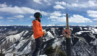 In this March 4, 2018 photo, Aspen Skiing Co. CEO Mike Kaplan poses at Aspen Highlands in Aspen, Colo.  Kaplan and his company have come a long way in their activism, stepping, purposefully, into the spotlight on testy issues and becoming arguably the most politically active of Colorado's large outdoor industry businesses. The resort now champions some of the nation's most divisive topics, from immigration to climate change and LGBTQ rights.   (Jesse Paul/The Denver Post via AP)