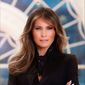 First lady Melania Trump, in her official White House portrait. Some journalists have noticed that the popular press is now overlooking Mrs. Trump. (WHITE HOUSE)