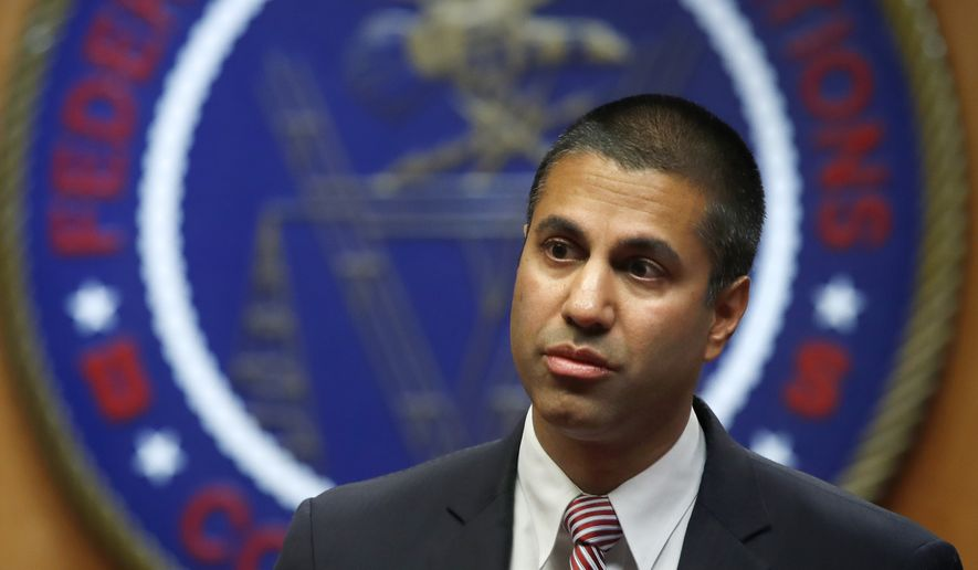 FCC Chairman Ajit Pai wrote. (Associated Press) ** FILE **
