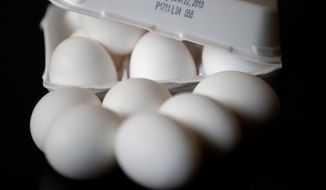 More than 200 million eggs from a North Carolina farm have been recalled because of bacterial contamination. (Associated Press)