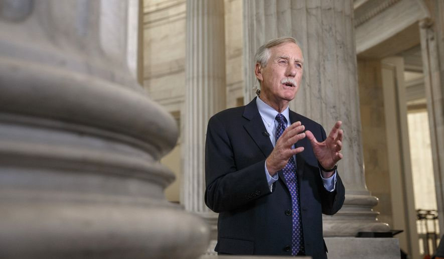 Sen. Angus King, Maine independent. (Associated Press) ** FILE **