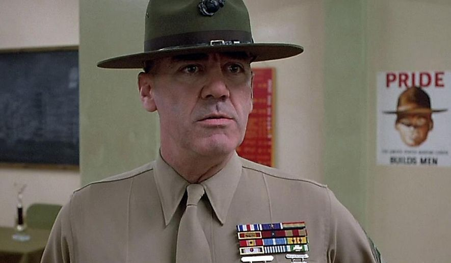 "R. Lee Ermey, drill sergeant in Stanley Kubrick's ""Full Metal Jacket,"" has died. (Full Metal Jacket)"