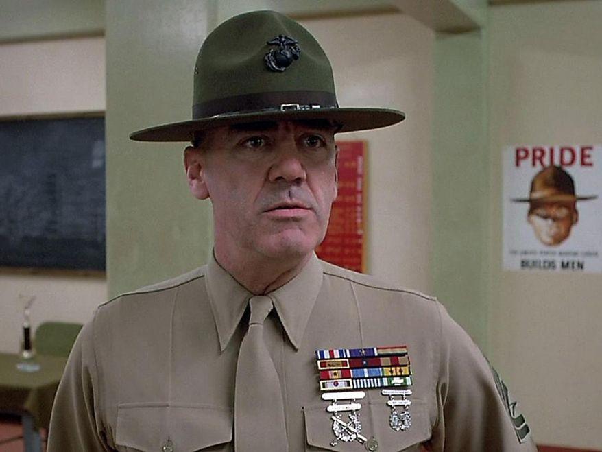 """R. Lee Ermey, drill sergeant in Stanley Kubrick's """"Full Metal Jacket,"""" has died. (Full Metal Jacket)"""