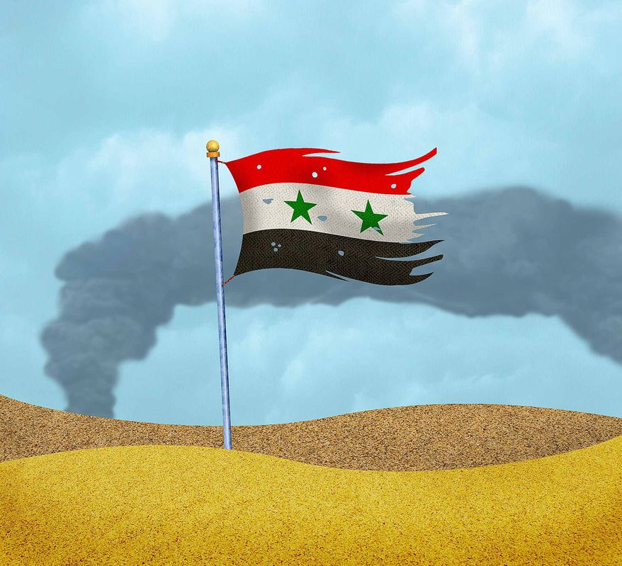 Syria Strike Illustration by Greg Groesch/The Washington Times