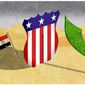 Illustration on options in Syria by Alexander Hunter/The Washington Times