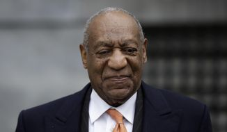 Bill Cosby departs after his sexual assault trial, Tuesday, April 17, 2018, at the Montgomery County Courthouse in Norristown, Pa. (AP Photo/Matt Slocum)
