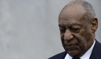 Bill Cosby departs after his sexual assault retrial, Monday, April 16, 2018, at the Montgomery County Courthouse in Norristown, Pa. (AP Photo/Matt Slocum)