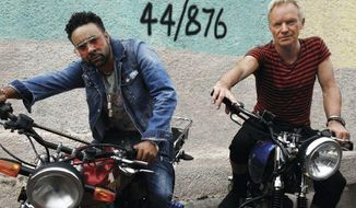 """This cover image released by A&M/Interscope Records shows """"44/876,"""" a release by Sting and Shaggy. (A&M/Interscope Records via AP)"""